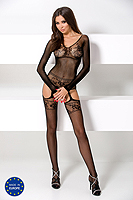 Bodystocking Passion BS055 - čierny sexy bodystocking